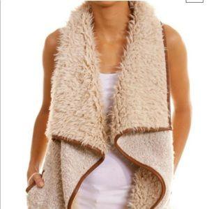 Love tree vegan fur vest, medium
